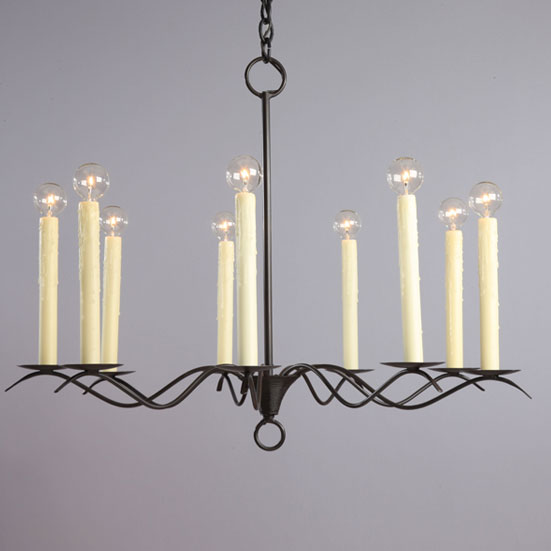 Studio steel lighting the colonial is a one tier chandelier with extra long candle sleeves which gives it an early american feel aloadofball Gallery